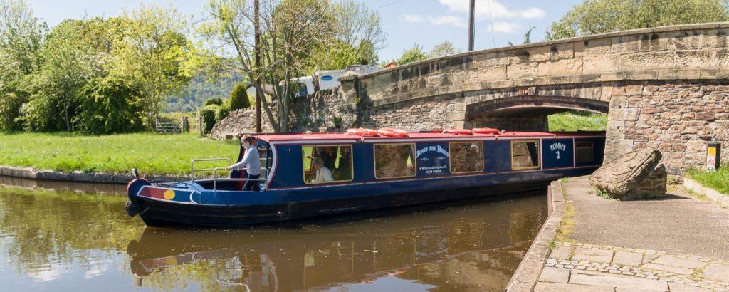 Hyr kanalbåt i Wales
